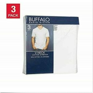 Buffalo David Bitton Men's 3-Pack V-Neck Classic F
